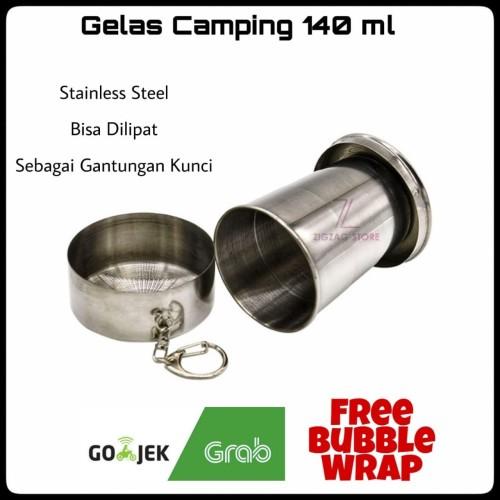 Foto Produk Gelas Camping Lipat Stainless Steel 140 ml dari ZigZag-Store