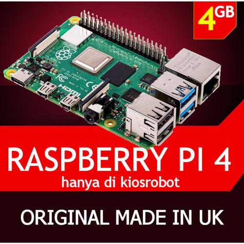Foto Produk Raspberry Pi 4 RAM 4GB Mini PC Raspi Pi4 Made in UK dari KiosRobot