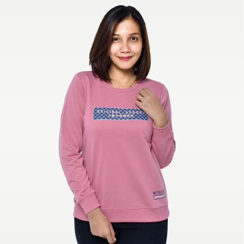 Foto Produk METALIZER M3221 Sweatshirt Sweater Wanita Baju Lengan Panjang Premium - M dari Seyes