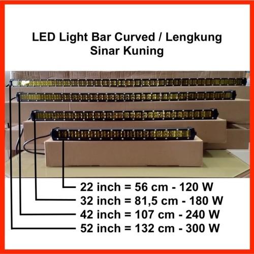 "Foto Produk LED Light Bar Slim 42"" 240W Curved / Lengkung Sinar Kuning dari Metro Star Online"