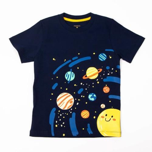 Foto Produk Moosca Kidswear Solar System T-Shirt | Kaos Anak | Navy - Size 2XL dari Moosca Kidswear