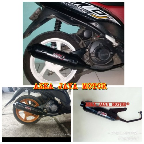 Foto Produk Knalpot Racing Mio J / Mio GT CSR model Standar bobokan dari Azka Jaya Motor