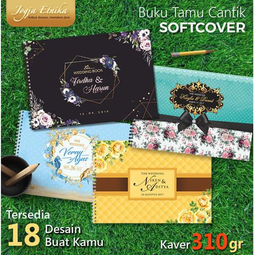 Foto Produk Buku Tamu Pernikahan Sofcover Isi Full Colour - Baris dari Jogja Etnika