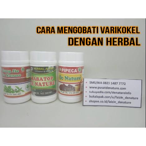 Foto Produk Paket Ampuh Obat Varikokel Herbal De Nature dari Pusat De Nature Herbal