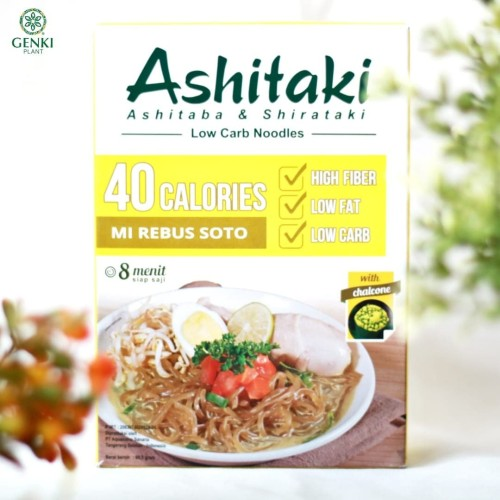Foto Produk Ashitaki (Ashitaba & Shirataki) Mi Rebus Soto - 69 g dari Genki Plant