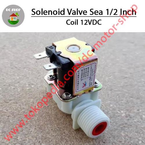 "Foto Produk Solenoid Valve 220V Sea 1/2"" - 12VDC dari DC Motor Shop"