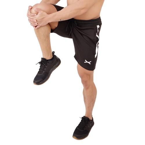 Foto Produk FLEX Celana Pendek - Hitam - for Gym Running Jogging Sport FCS-007HT - S dari FLEXZONE