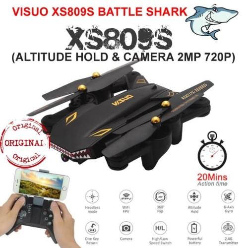 Foto Produk Drone VISUO XS809S Battle SHARK WIFI 2MP Camera Versi Diatas XS809HW dari ParagonJaya