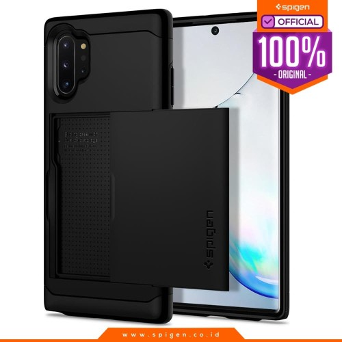 Foto Produk Case Galaxy Note 10 Plus / Note 10 Spigen Card Slot Slim Armor CS - Black, Note 10 Plus dari Spigen Official