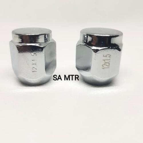 Foto Produk MUR BAUT VELG BAN MOBIL LUG NUT FUJITA PENDEK UKURAN 21X12X1.5 CHROME dari SA-MTR