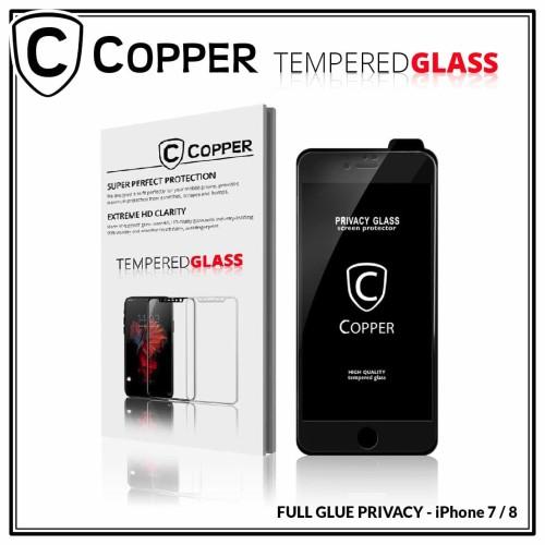 Foto Produk Iphone 7 - COPPER Tempered Glass PRIVACY/ANTI SPY(Full Glue) - Putih dari Copper Indonesia