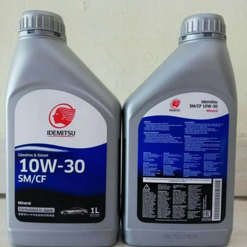 Foto Produk Oli Mesin Mobil IDEMITSU SM/CF 10W-30 Kemasan 1 Liter dari Toko Anugerah-