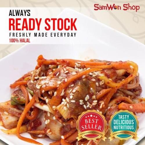 Foto Produk KIMCHI MIX SAWI WORTEL LOBAK FRESH 250 GRAM SAMWON Makanan Korea dari idris shop01