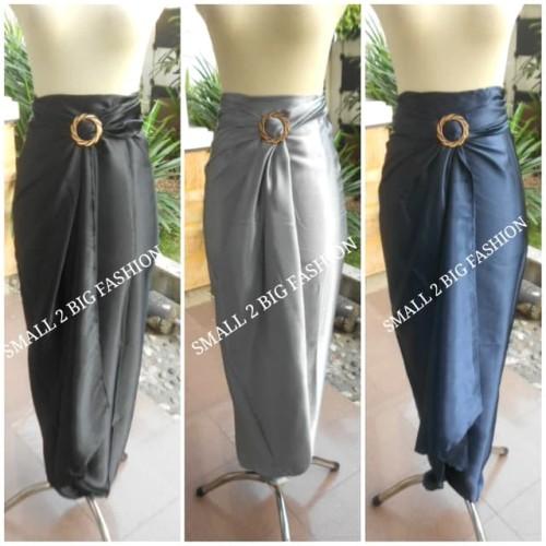 Foto Produk rok lilit polos / rok lilit hitam / rok lilit kebaya / rok lilit navy dari Small 2 Big Fashion