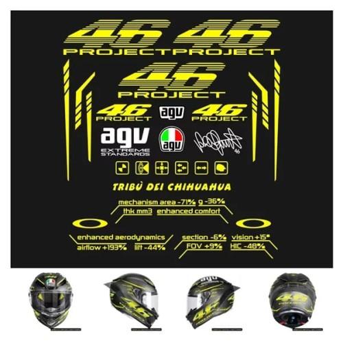 Foto Produk Stiker Helm Full Face AGV 46 Pista 46 Project Stiker Helm 2.0 dari Harp74 STOR