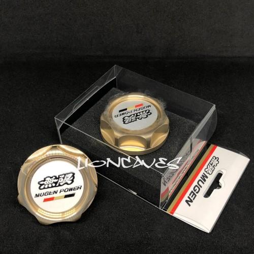 Foto Produk Original Mugen Oil Filler Cap / Tutup Oli Mugen - Gold Made in Japan. dari lioncaves