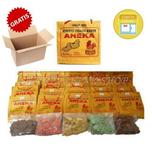 Foto Produk Keripik Pisang Coklat Aneka Yen-Yen Lampung Kemasan 225g - Coklat dari chintachink
