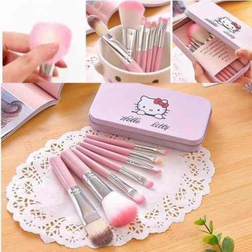 Foto Produk Set Hello Kitty Makeup Brush 7pcs Paket Set Kuas Make Up Brush Set dari ICG