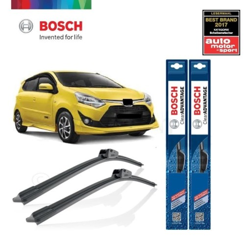 Foto Produk Wiper Mobil Frameless Toyota Agya Sepasang Bosch Clear Advantage dari BOSCH Automotive