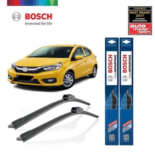 Foto Produk Wiper Mobil Frameless Honda Brio Satya Sepasang Bosch Clear Advantage dari BOSCH Automotive
