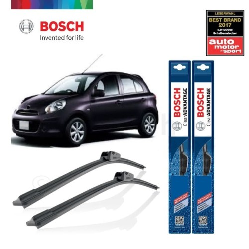 Foto Produk Wiper Mobil Frameless Nissan March Sepasang Bosch Clear Advantage dari BOSCH Automotive