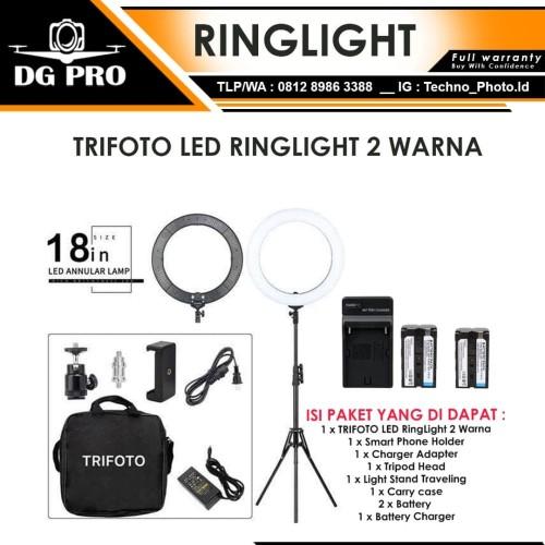 Foto Produk Ringlight LED Trifoto RL-18 Free 2 Batt + Stand - Ring Light Ringlite dari DG PRO