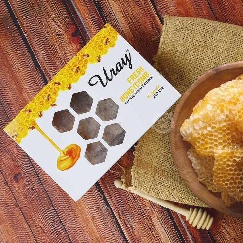 Foto Produk Madu Uray Pure Honeycomb / Sarang Madu Asli 250 Gr dari House Of Organix