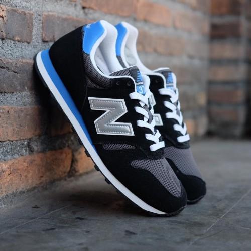 New Balance 373 Black Silver Blue Mens