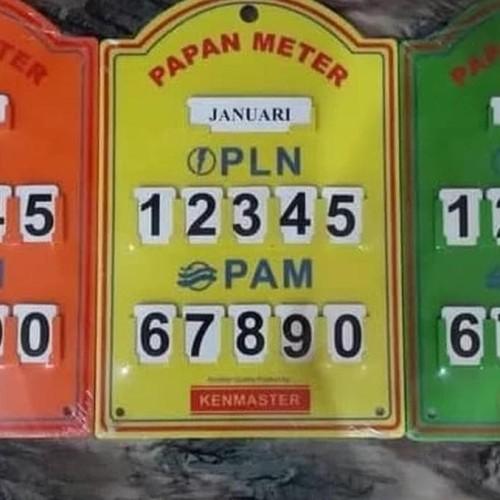 Foto Produk PAPAN METERAN PAM PLN KENMASTER/PAPAN METERAN LISTRIK AIR RUMAHAN MURA dari indogrosir329