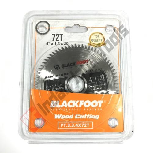 """Foto Produk BLACKFOOT Mata Pisau Potong Kayu 4"""" x 72 T / Wood Circular Saw Blade dari Indah Jaya Tools"""