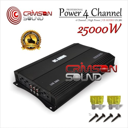 Foto Produk POWER MOBIL 4 Channel 25.000 Watt US AUDIO US-380 dari Crimson Sound