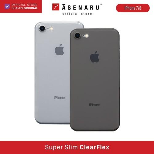 Foto Produk ASENARU iPhone 7/8/SE 2 2020 Case - Super Slim ClearFlex Casing - Crystal Clear dari Asenaru Official Store
