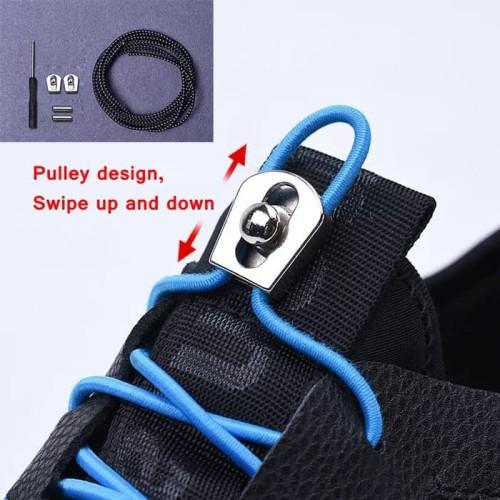Foto Produk tali sepatu elastis dengan Stop-Lock - Metal dari Toko Andalan Kaki Lima