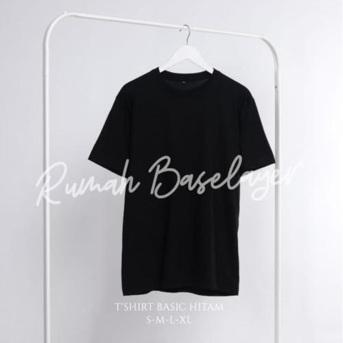 Foto Produk Kaos Polos Baju Oblong Hitam Combed 30's Pria Wanita Unisex - KAOSPLS PUTIH, S dari Rumah Baselayer