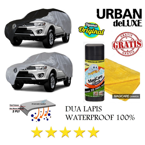 Foto Produk Cover Mobil DELUXE 2 Lapis MOBILIO RUSH TRD BRV HRV SPIN LIVINA - SILVER HITAM dari GrosirOtomotif