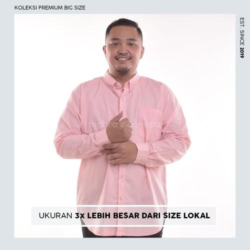 Foto Produk Kemeja Big Size Pria BIG BRO Ukuran Besar Jumbo XXL XXXL Pink Long - XL dari BIG BRO Indonesia