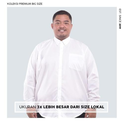 Foto Produk Kemeja Big Size Pria BIG BRO Ukuran Besar Jumbo XXL XXXL Putih Panjang - XL dari BIG BRO Indonesia