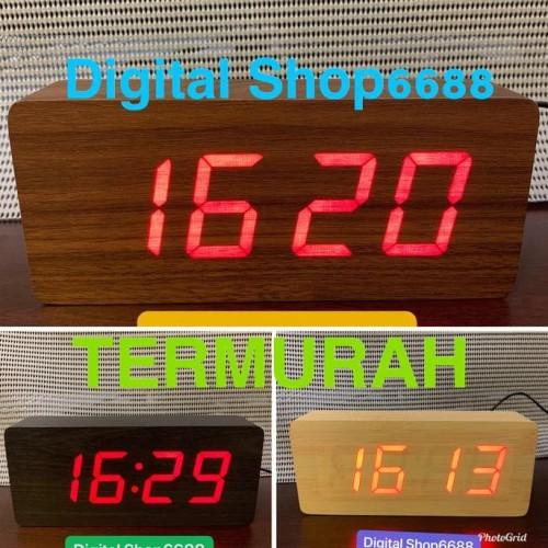 Foto Produk Jam Alarm Led Wood / Jam Meja Digital Motif Kayu &1292 - Cokelat dari Sarah Fauziyah Shop