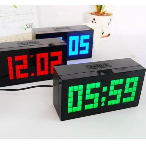Foto Produk Jam Meja Digital Jumbo Led Wall Clock With Thermometer And Calendar dari Sarah Fauziyah Shop