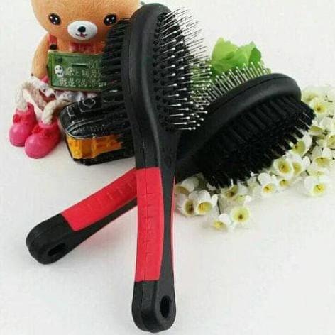 Foto Produk Double Pet Brush / Sisir Grooming Anjing Kucing 2 in 1 dari buncis shop01
