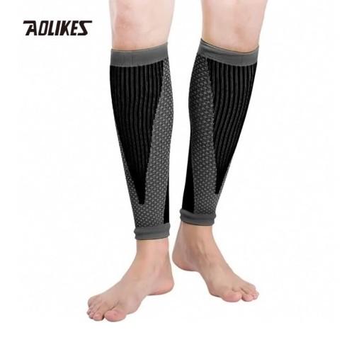 Foto Produk Aolikes 7965 Leg Calf Compression Sleeves - Betis Lari Sepeda - Black - M dari Aolikes Indonesia