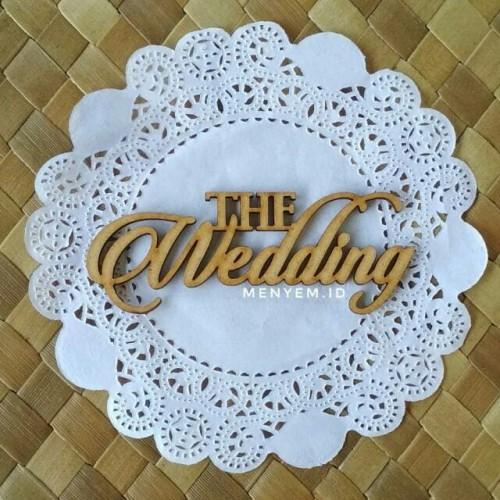 Foto Produk Tulisan the wedding RS 9 x 3,4 cm Chipboard The Wedding Script Text dari maharpare