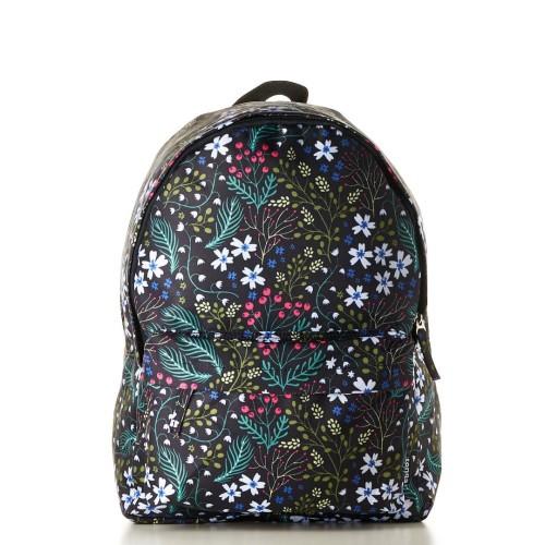 Foto Produk Tas Wanita Tas Ransel Backpack 31DN011508 Hitam Daun Full printing dari Tonga-Bags
