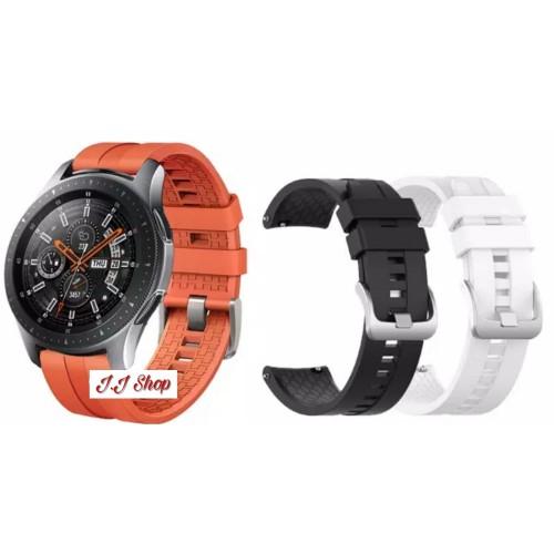 Foto Produk Strap Silikon Watch Band Huawei Style Samsung Galaxy Watch 46mm Tali - Putih dari Logam Mulia Termurah