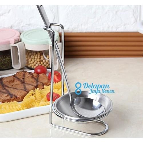 Foto Produk Ladle Soup Holder / Spoon Rest Vertical Holder/ Ladle Stand Holder dari Grosir Delapan JayaSenen