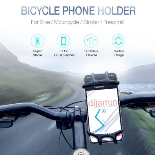 Foto Produk Universal Phone Holder Dudukan Penyangga HP di Sepeda Motor - Non Rotating dari dijamin oke