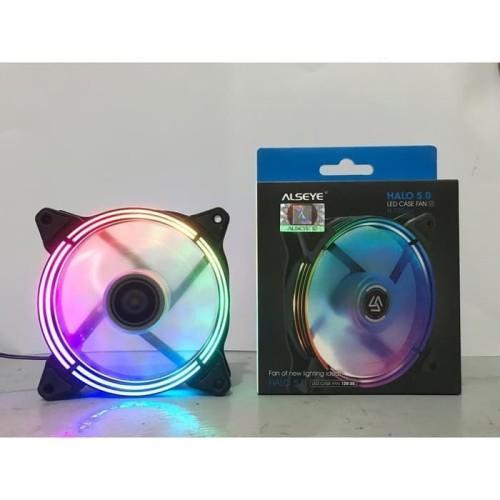 Foto Produk Alseye HALO 5.0 H-120-5MR Fan Casing 12cm LED RGB Gaming Fan Case dari scriptechnology