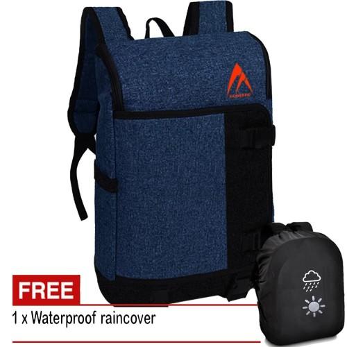 Foto Produk Tas Pria Tas Wanita KM120 Tas Ransel Tas Backpack Tas Laptop - Blue dari Juragan Tas Import
