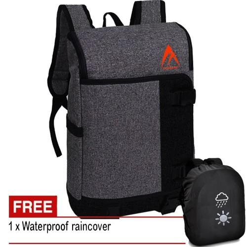 Foto Produk Tas Pria Tas Wanita KM120 Tas Ransel Tas Backpack Tas Laptop - Grey dari Juragan Tas Import