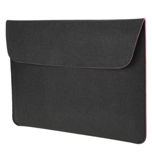 "Foto Produk Tas Laptop/Softcase for Macbook Kulit 15.4"" PU Leather - Hitam dari Reju Shop"